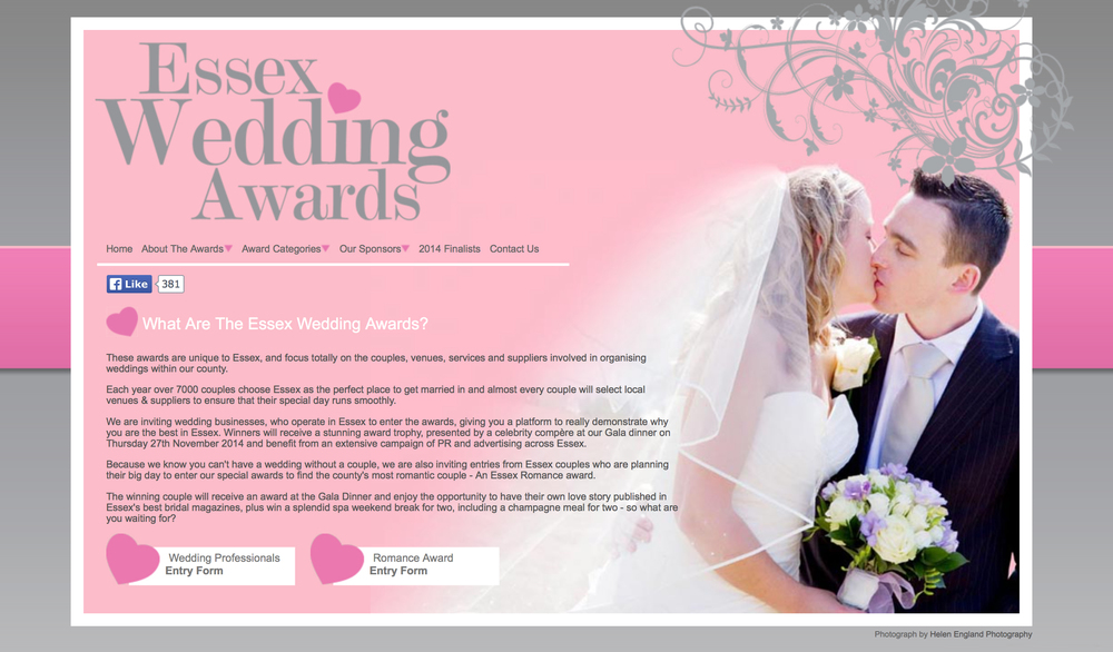 A description of what the Essex Wedding Awards are about