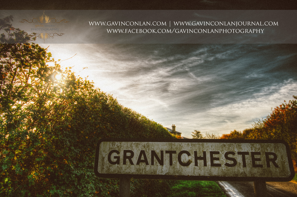 Granchester village sign post in Cambridgeshire