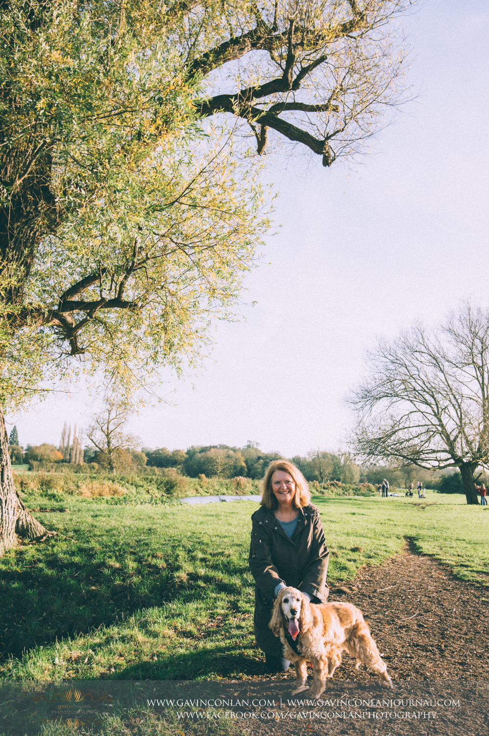mum and holly at Grantchester Meadows, Cambridgeshire