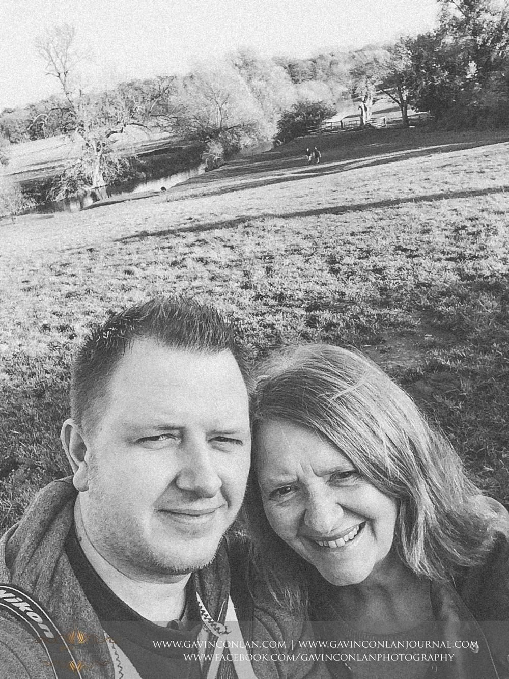 me and mum at Grantchester Meadows, Cambridgeshire