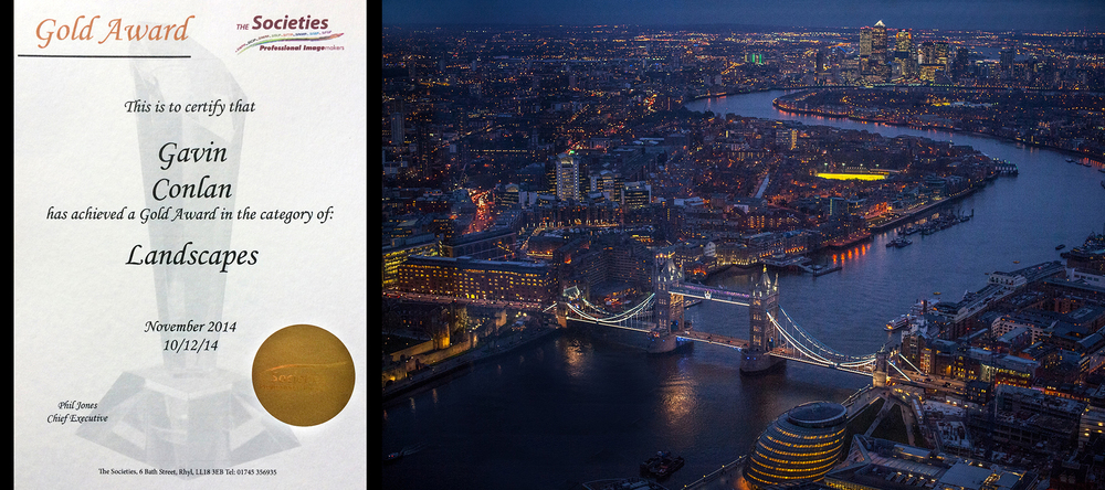 gavin conlan photography's gold award winning image in the SWPP November's landscapecategory. The photograph was taken in London, England.