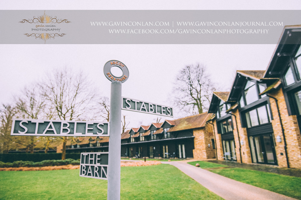 the stables outside the bridal suite at  Coworth Park Hotel  by  gavin conlan photography Ltd
