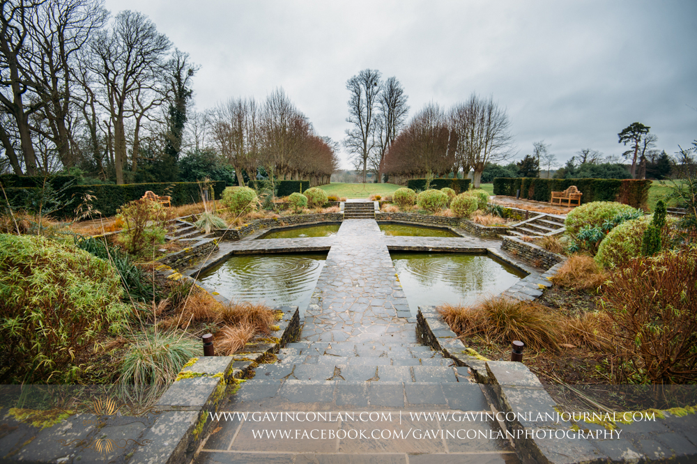 the stunning sunken garden at  Coworth Park Hotel  by  gavin conlan photography Ltd