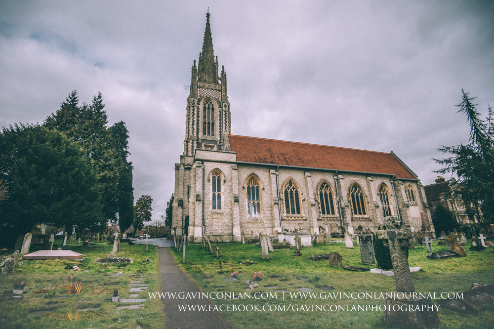 wide angle exterior shot of  All Saints Church in Marlow  by  gavin conlan photography Ltd