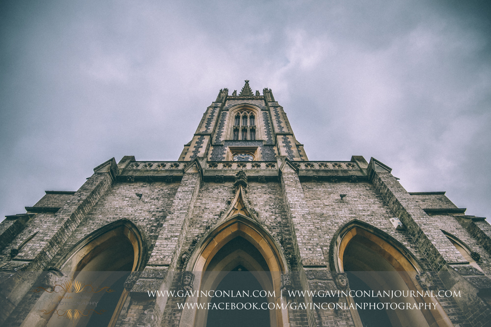 close up shot of the entrance of  All Saints Church in Marlow  by  gavin conlan photography Ltd