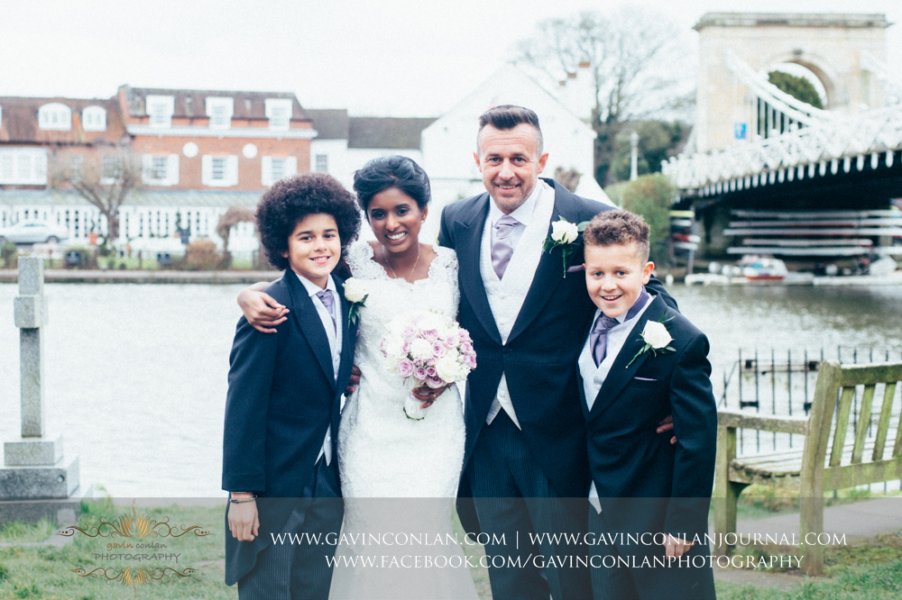 a beautiful family portrait, wedding photography at  All Saints Church Marlow  by  gavin conlan photography Ltd
