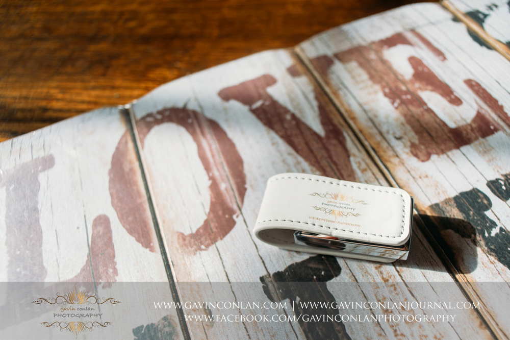 gavin conlan photography Ltd custom white leather branded USB drive