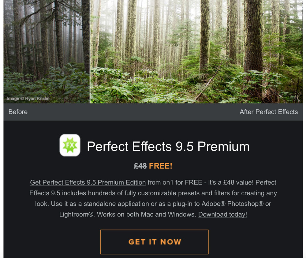 Perfect Effects 9.5 Premium Special Offer - download the software for FREE!!