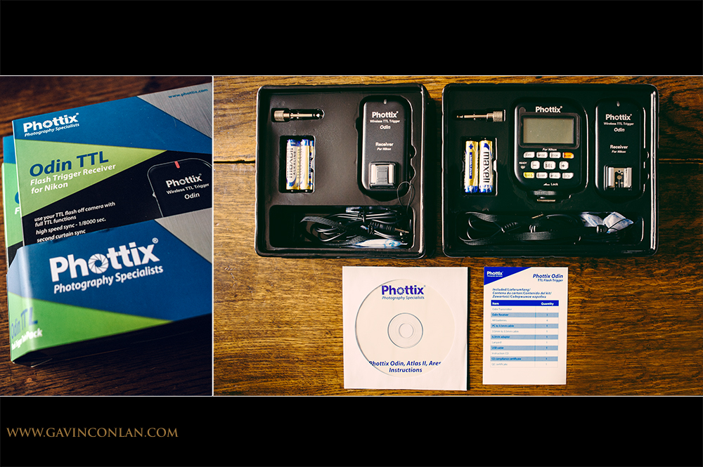 I've just taken delivery of my new wireless lighting system the Phottix Odin for Nikon