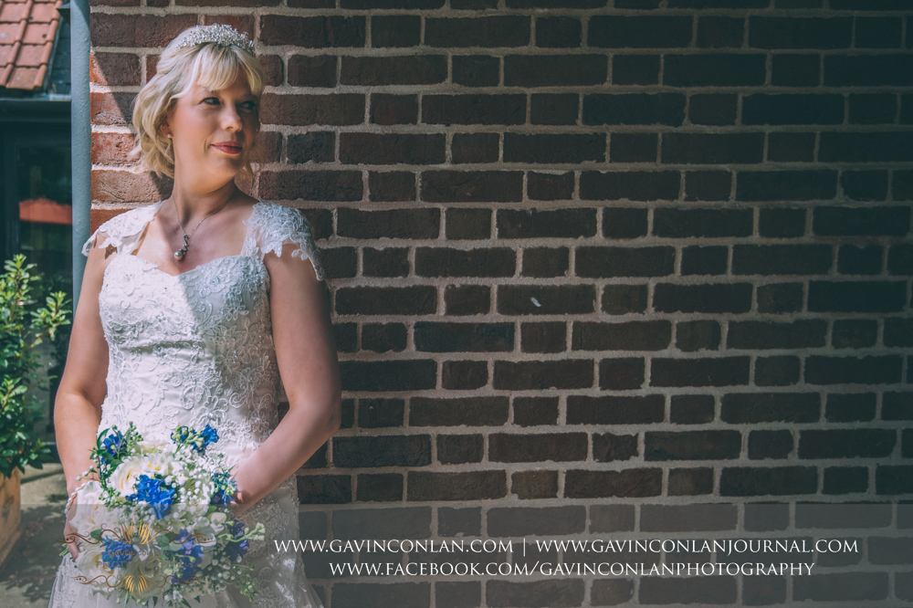 a beautiful bridal portrait. Wedding photography at The Barn Brasserie by Essex wedding photographer gavin conlan photography Ltd