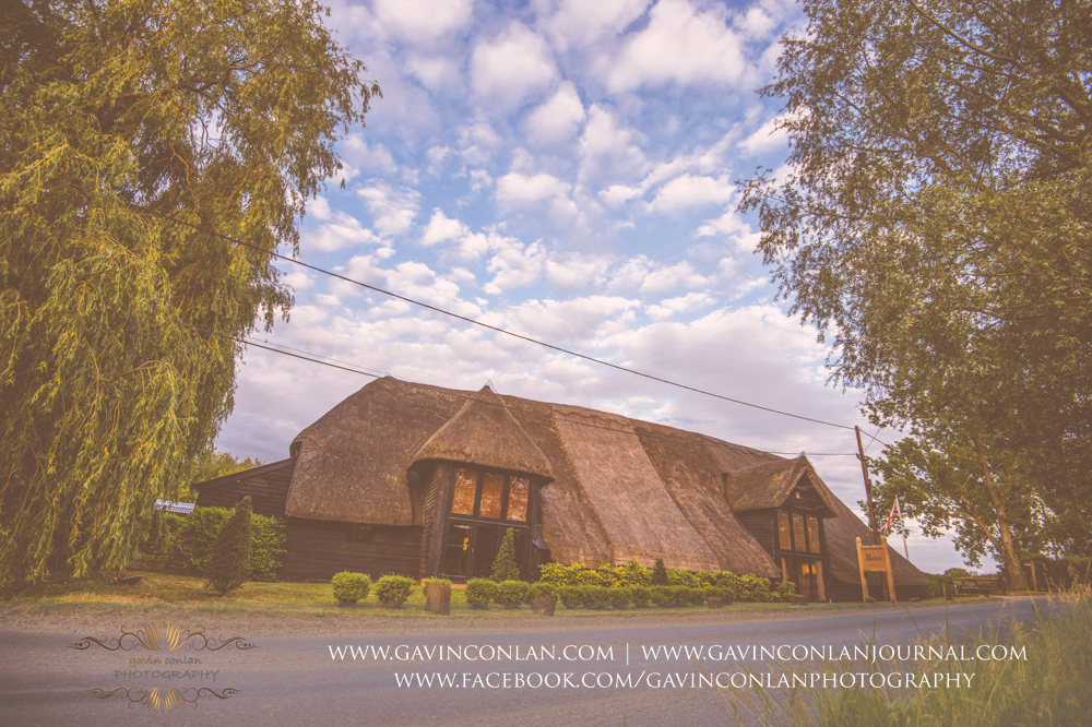 creative landscape of the exterior of The Barn in all it's glory. Wedding photography at The Barn Brasserie by Essex wedding photographer gavin conlan photography Ltd