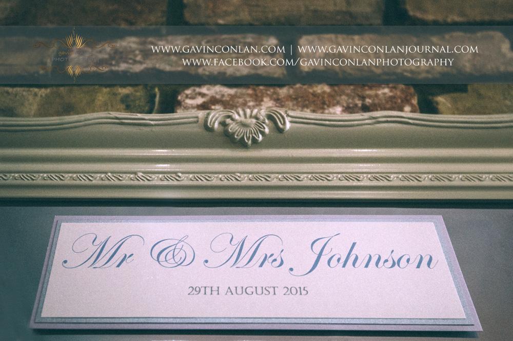 creative detail photograph of Mr & Mrs Johnson table plan at Great Hallingbury Manor.Essex wedding photography at  Great Hallingbury Manor by  gavin conlan photography Ltd