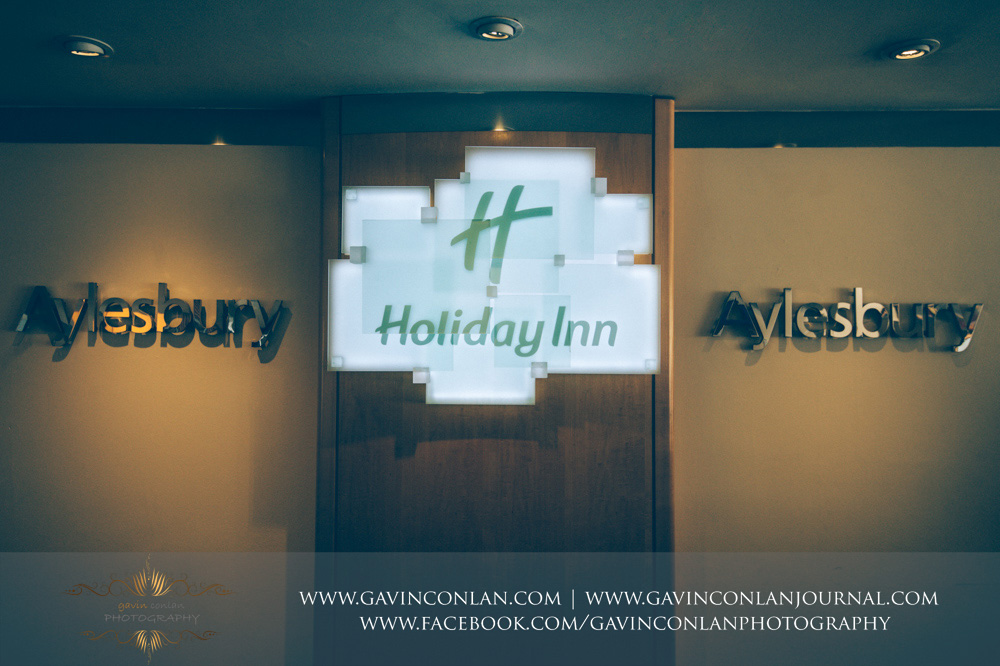 Wedding photography at the  Holiday Inn Aylesbury  by  gavin conlan photography Ltd