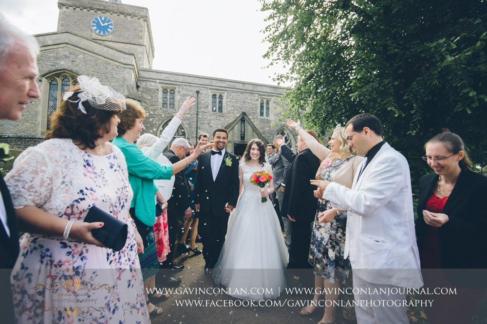 Wedding photography at  St James the Great Church  by  gavin conlan photography Ltd