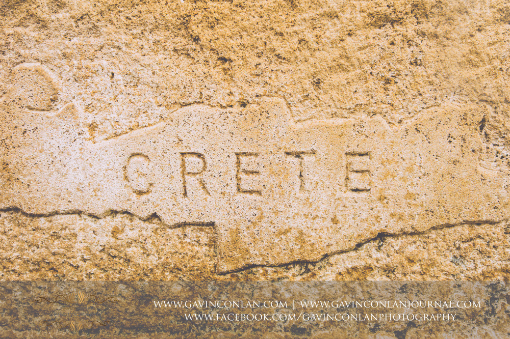 the word Crete etched into the brickwork.