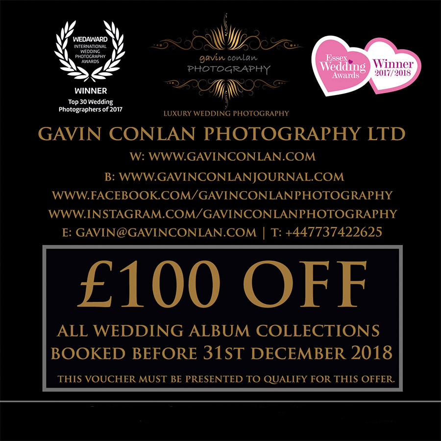 **Come to my stand in the Fairwood to collect your £100 OFF VOUCHER VALID ON ALL ALBUM COLLECTIONS for weddings booked before the 31st December 2018