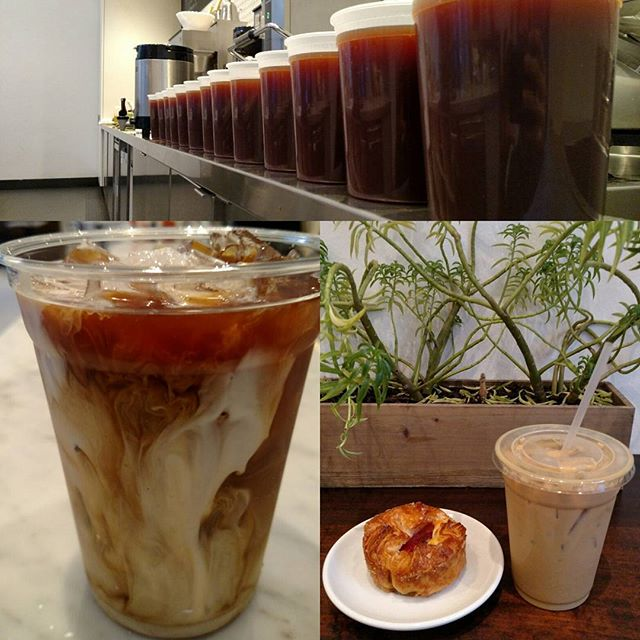 It's gearing up to be another beautiful day! We have cold brew iced coffee as far as the eye can see, so come get yours! #lacapracoffee #coldbrewcoffee