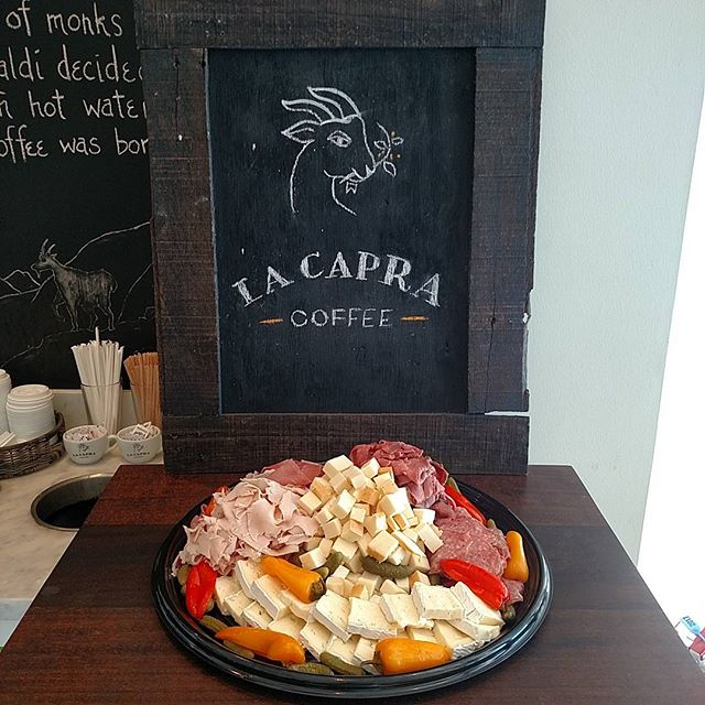 Drop us a line for all your financial district catering needs. Salads, sandwiches, breakfast, chacuterie, we can do it all! #lacapracoffee #fidicatering