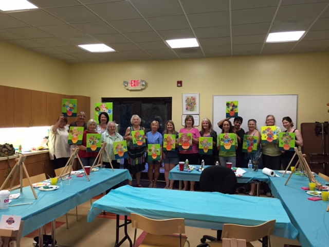 A fabulous night of painting with Deb and the Brits Brand girls at the Litchfield Community Center.