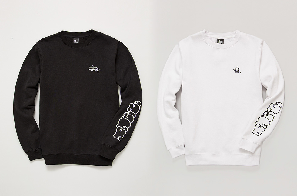 Because the Stussy crewneck is the official uniform of MR. SNEEZE, Stussy graciously let the editor-in-chief have at it with these very considered offerings. When wearing with a slight crooked posture, these crewnecks do everything. Use to cross your arms and close yourself to social influence. Raise your left arm and the SNEEZE screenprint placement handily shields from unwanted group selfies/airport paparazzi. It's easy on logos and branding deeming it appropriate for a semi-casual date night dinner. Dress it up with a collared shirt on underneath. The simple Stussy stock and crown embroideries are a nod to the 90′s – classic and timeless. Now available in extremely limited quantities both in-store & online.