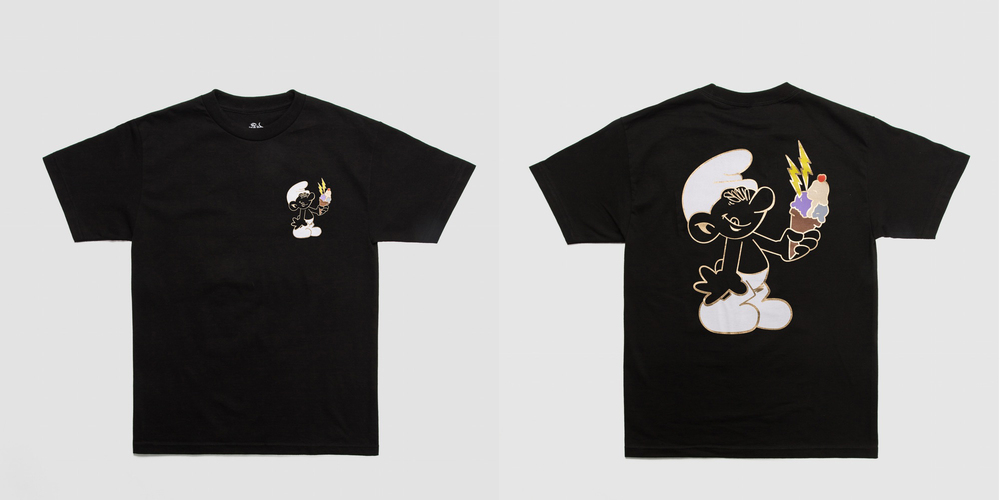 Original artwork by Dirty Shaun, high density print with liquid gold outline on black t-shirt. Available now in limited quantities. #freeguwop