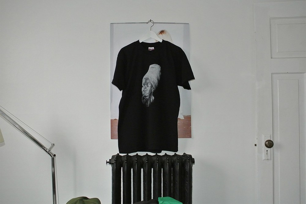 Sneeze Nina Simone Tee.  White print, tight neck, 100% cotton. Made in USA.  Available now at ACD Gallery.