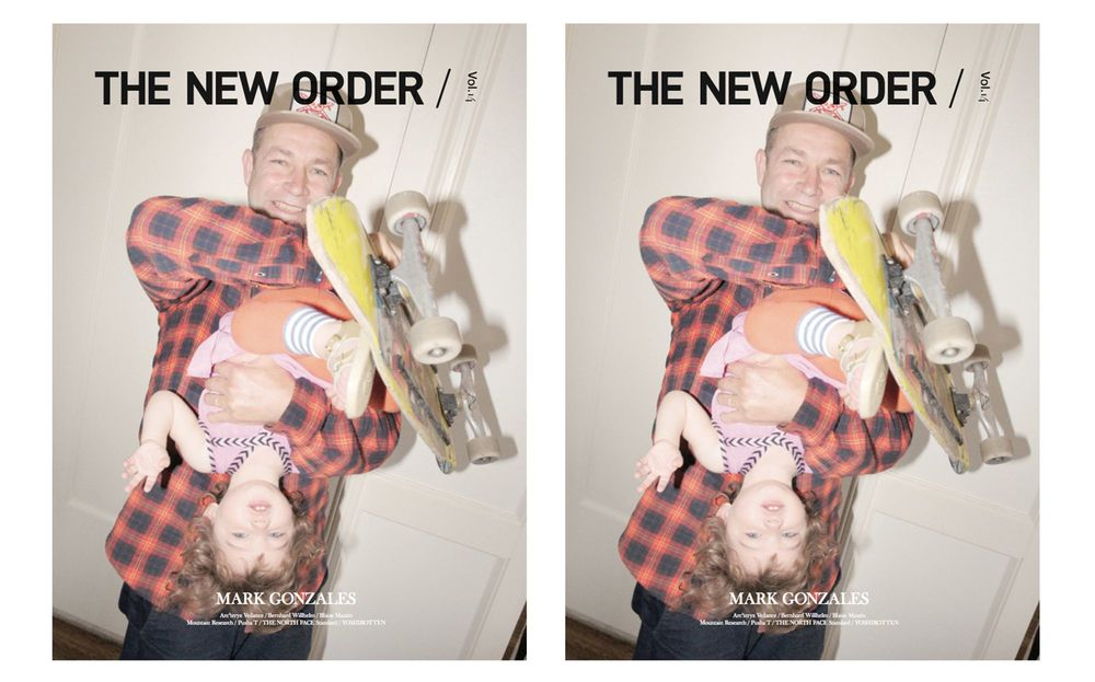 The cover of the Spring/Summer 2016 issue features renowned skater and artist Mark Gonzales, photographed by Kenneth Cappello and interviewed by Harmony Korine as well as the Cappello. The fourteenth edition of THE NEW ORDER also features Pusha T, Bernhard Willhelm, Mountain Research, ESSAY, Arc'teryx Veillance, Peel&Lift; a selection of seasonal fashion stories. THE NEW ORDER Vol. 14 is available now in-store and online at ACDGALLERY.com.