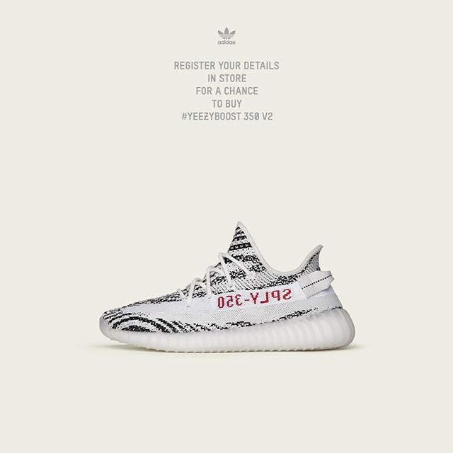 The adidas #YEEZYBOOST 350 V2 'Zebra' releases this Saturday at ACD Gallery. Retail is $220. -- Release Details: Available in-store only. Raffle starts Wednesday (6/21) and ends Friday (6/23) at 6pm. Entry is free and limited to one per customer. Winners will be contacted by phone on Friday evening and must be able to pick up their pair on Saturday (6/24). Valid ID & raffle ticket must be presented at pick up.