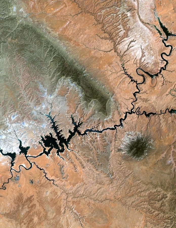 Lake Powell. Photo courtesy NASA