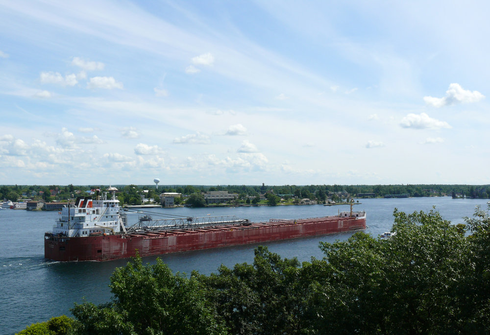 Freighter on the St. Lawrence. Photo Ad Meskens/Wikimedia Commons