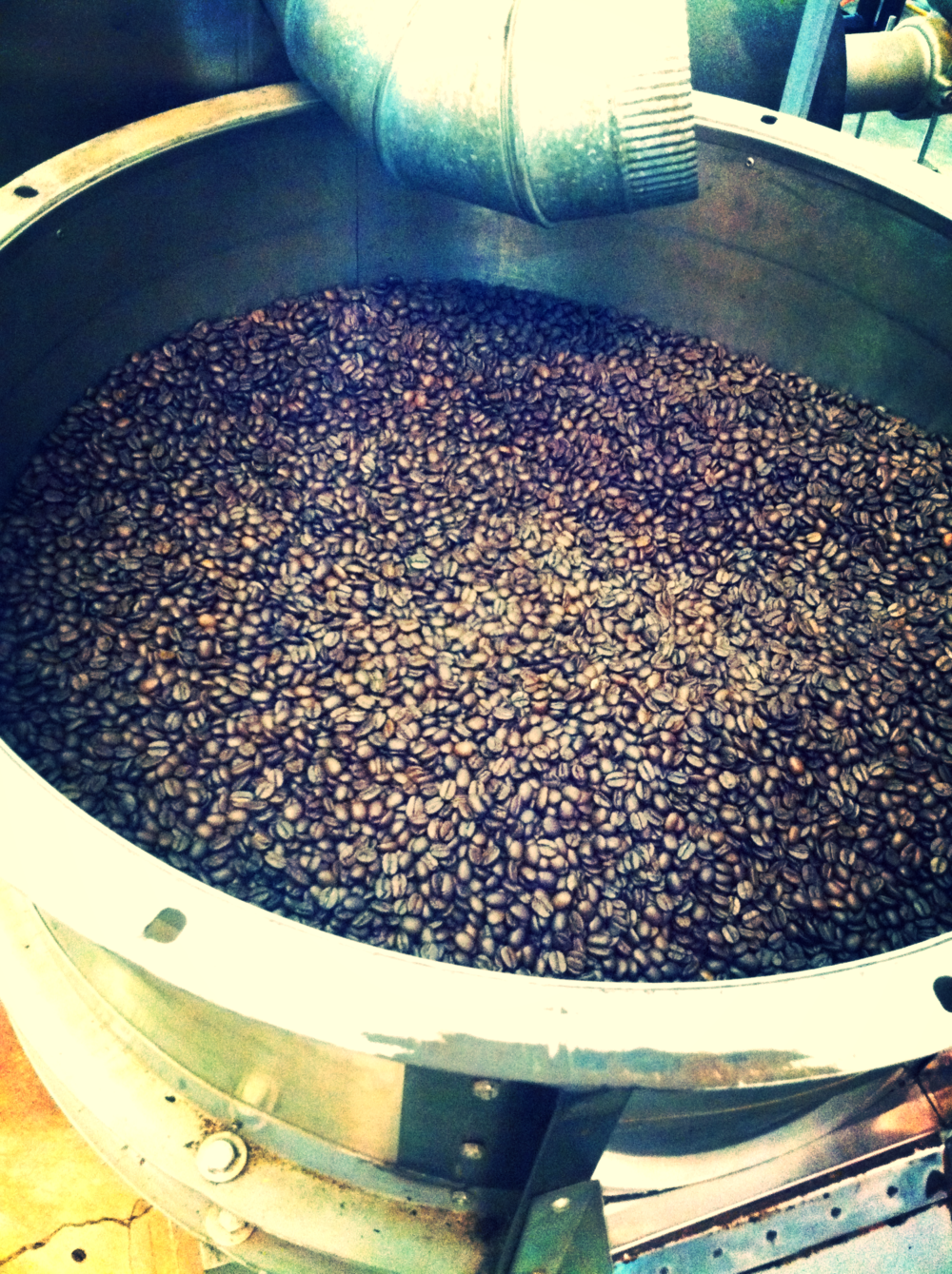 Beans after roasting.