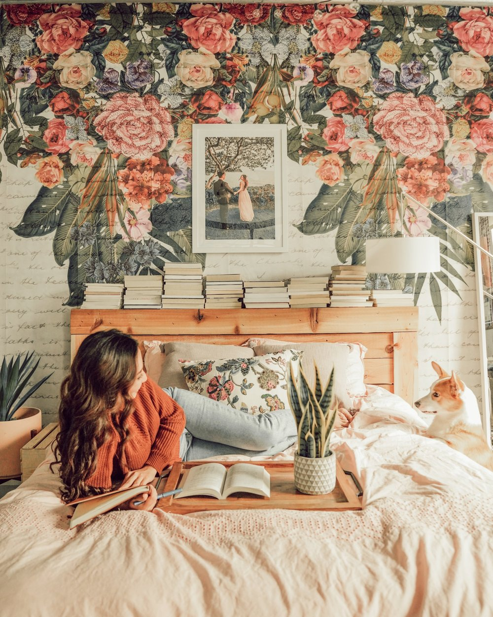 How to Turn Your Bedroom Into a Floral Haven - Floral walls, floral pillows, floral bedsheets and just about every other piece of decor that you can possibly imagine. Why hold back if your one and only goal is to surround yourself in a floral haven?!