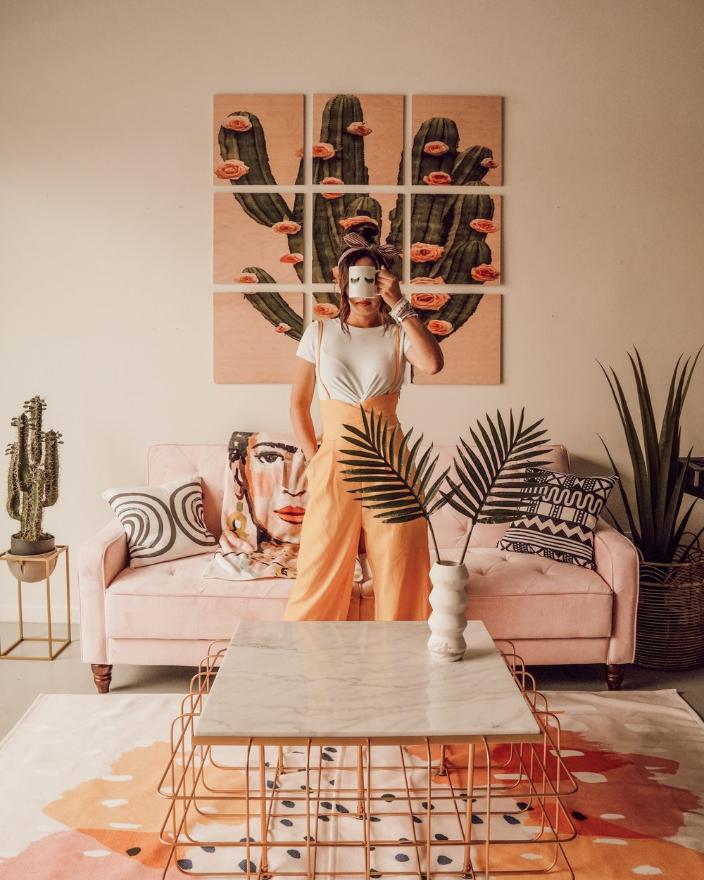 5 Ways to Create a Cozy Space - With the help of Society6, the incredible decor company that supports talented artists and prints their designs on tens of thousands of products, I decided to remake my entire living room! The results were absolutely stunning. Just take a look!