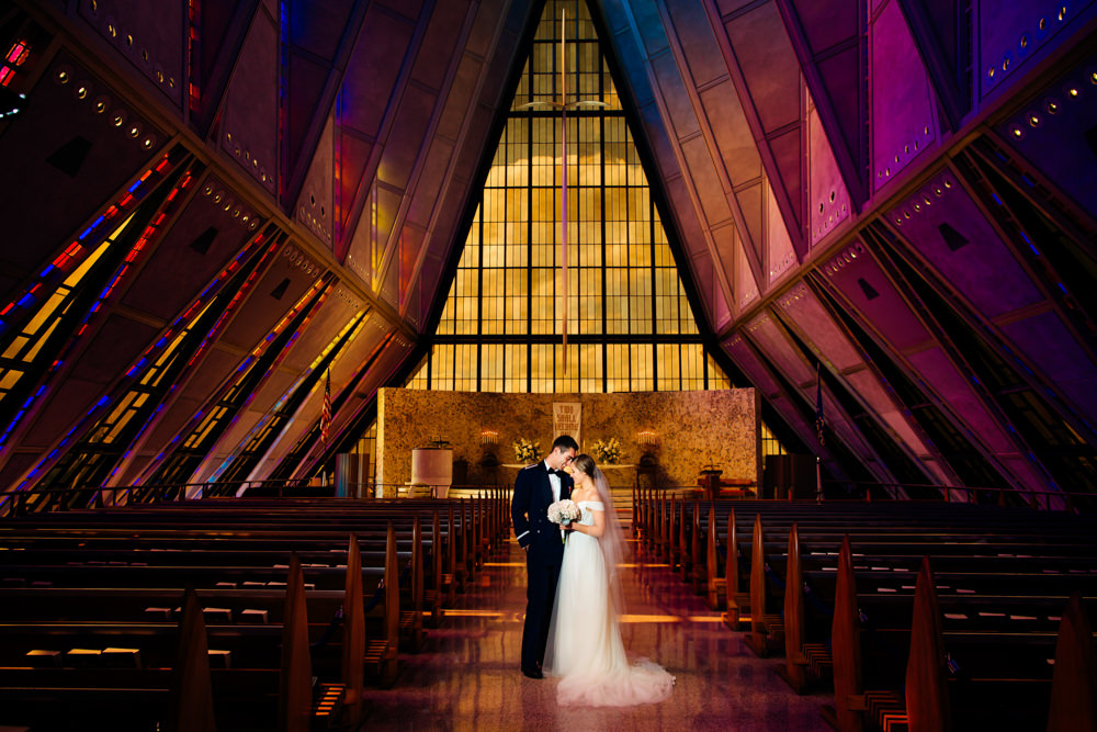 United States Air Force Academy Cadet Chapel Wedding-31.jpg