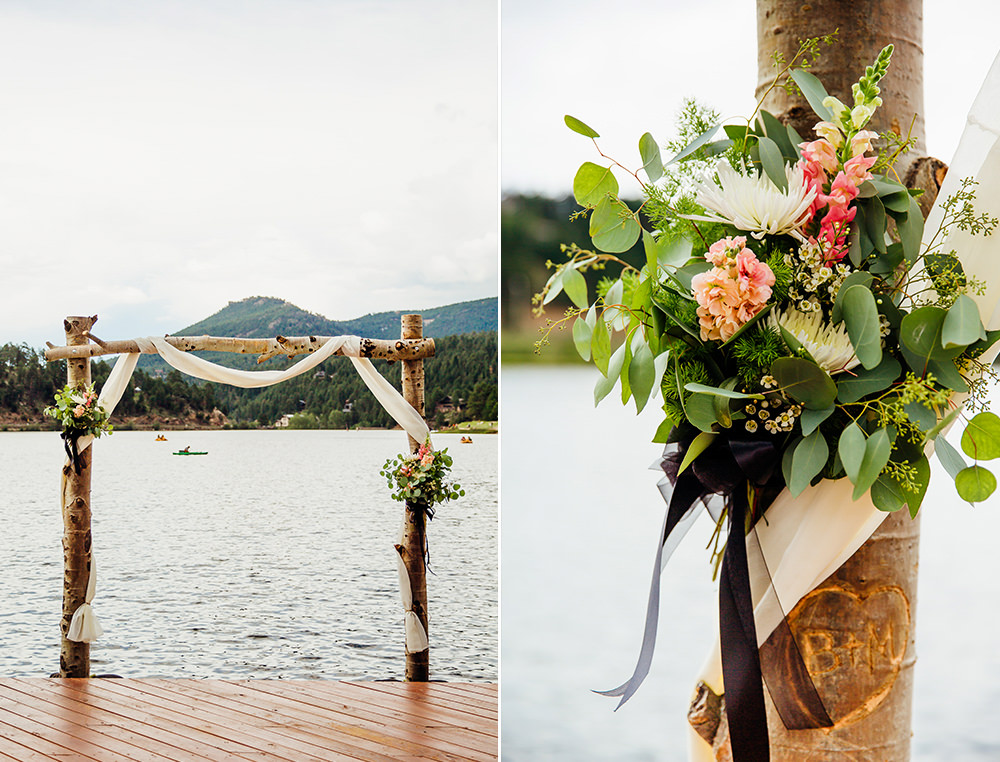 Evergreen Lake House Wedding - Rainy Colorado Wedding -5.jpg