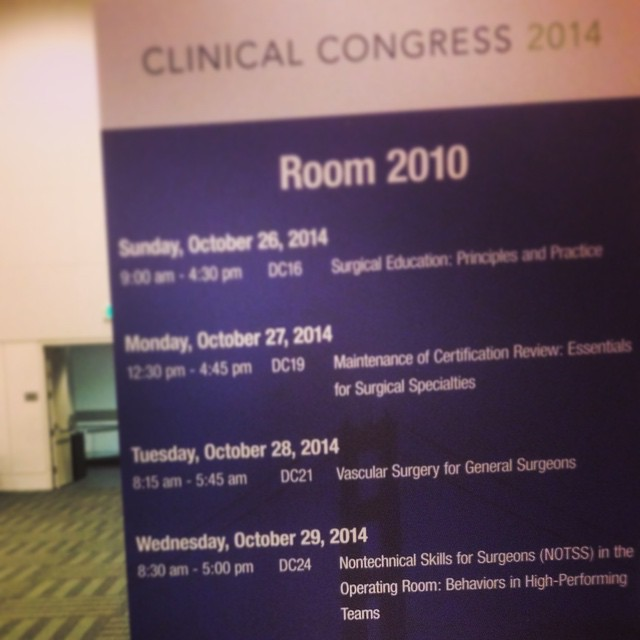 #ACS2014 #ClinicalCongress #NOTSS