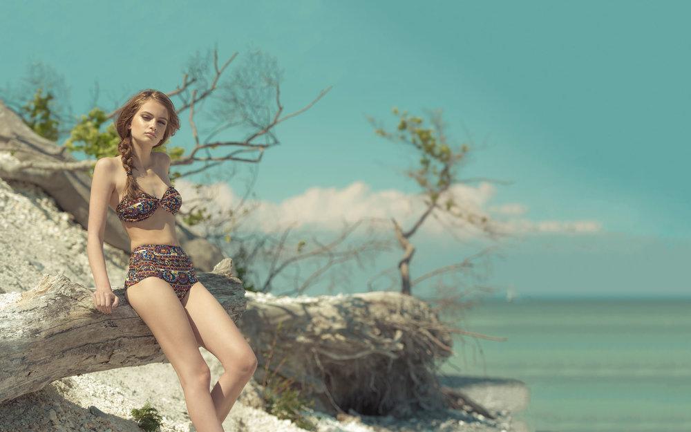 Nina Marker on the Beach