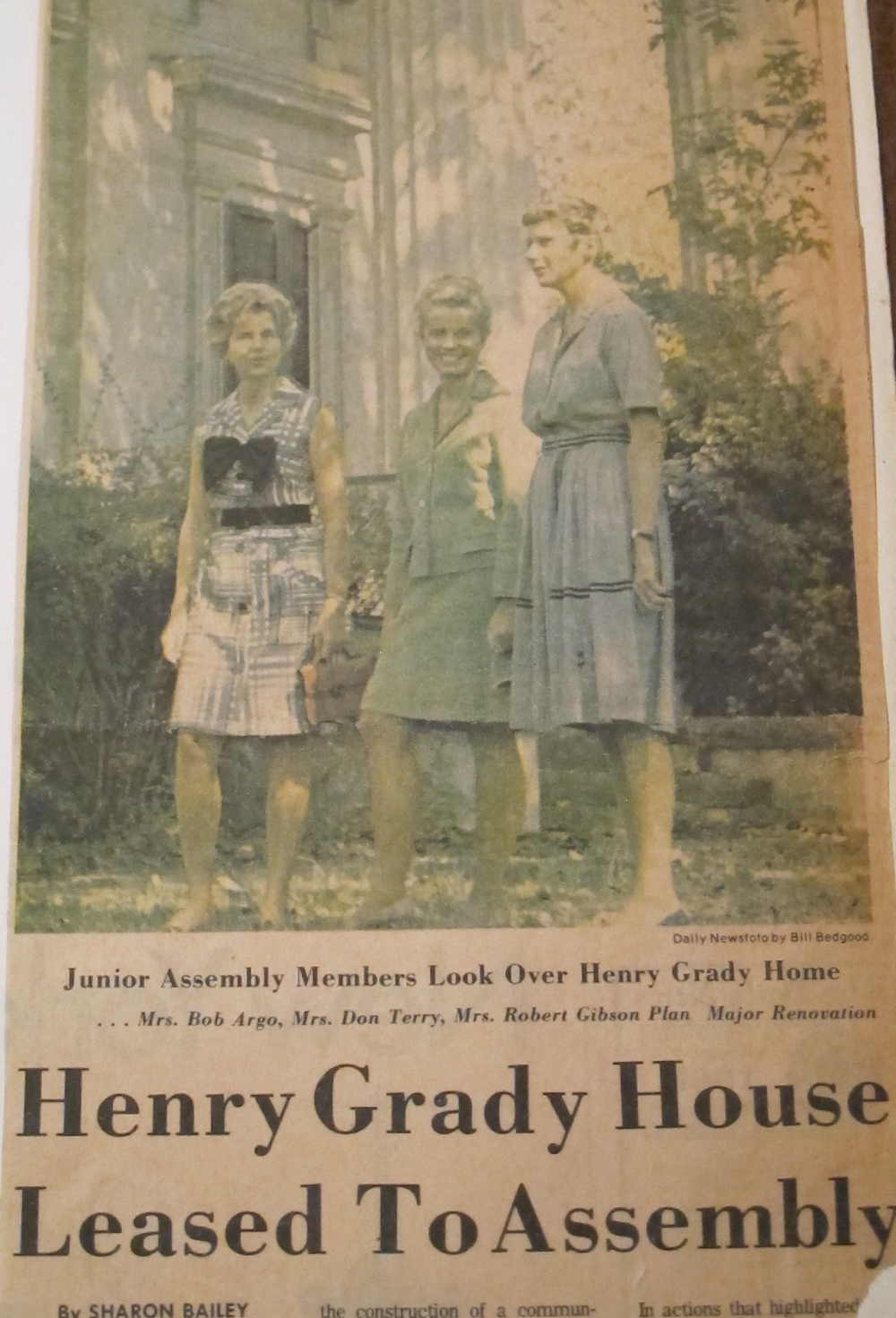 The assembly became the stewards of the Taylor Grady House in 1968.