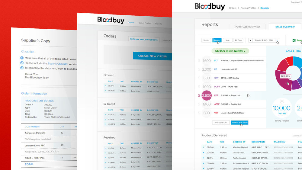 Visual Mockups for http://www.bloodbuy.com