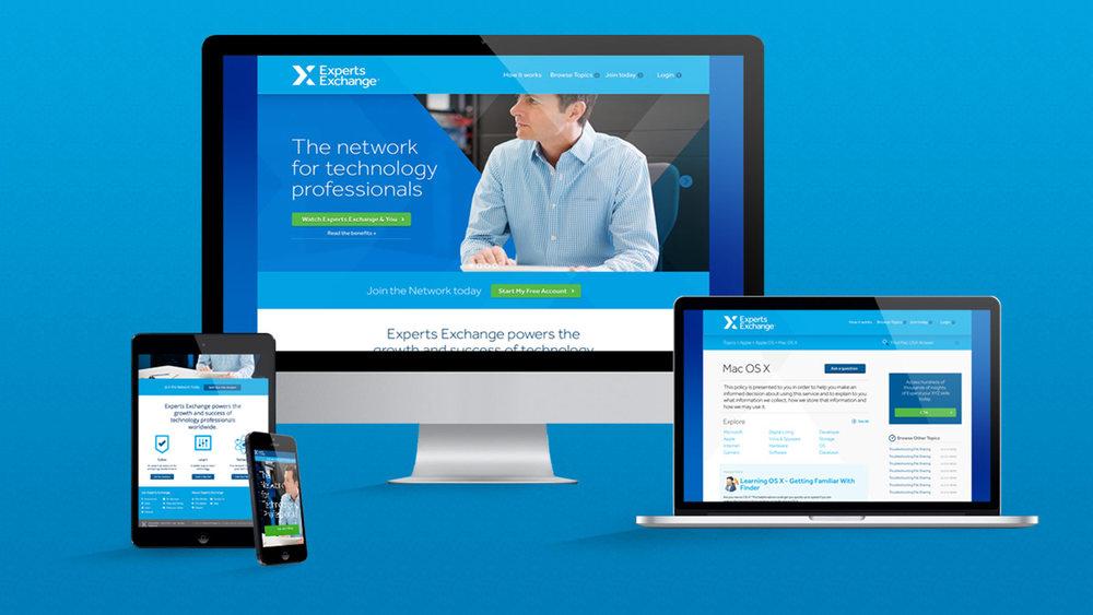 Experts Exchange Responsive Website Design