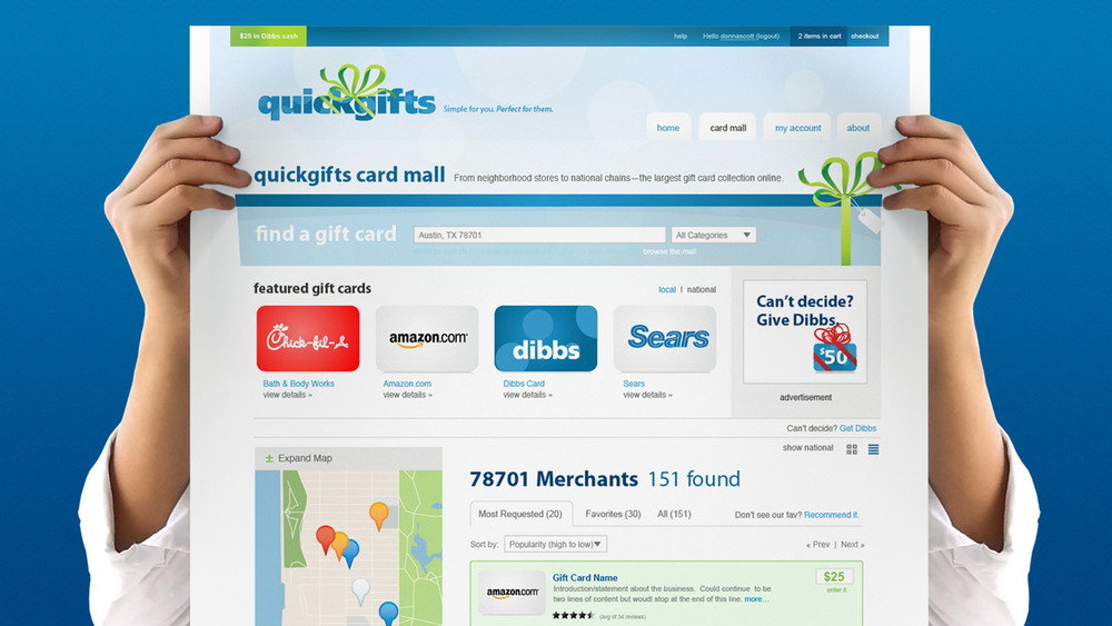 QuickGifts Marketing Collateral