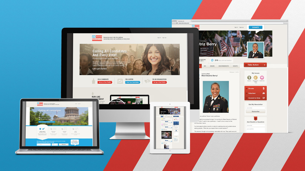 Democracy.com Responsive Website Design