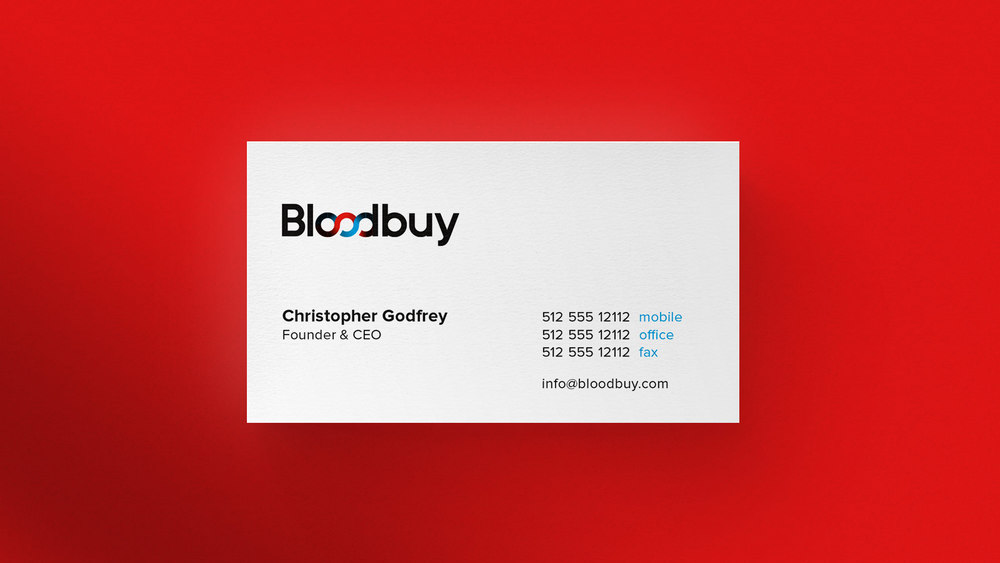 Bloodbuy Business Cards