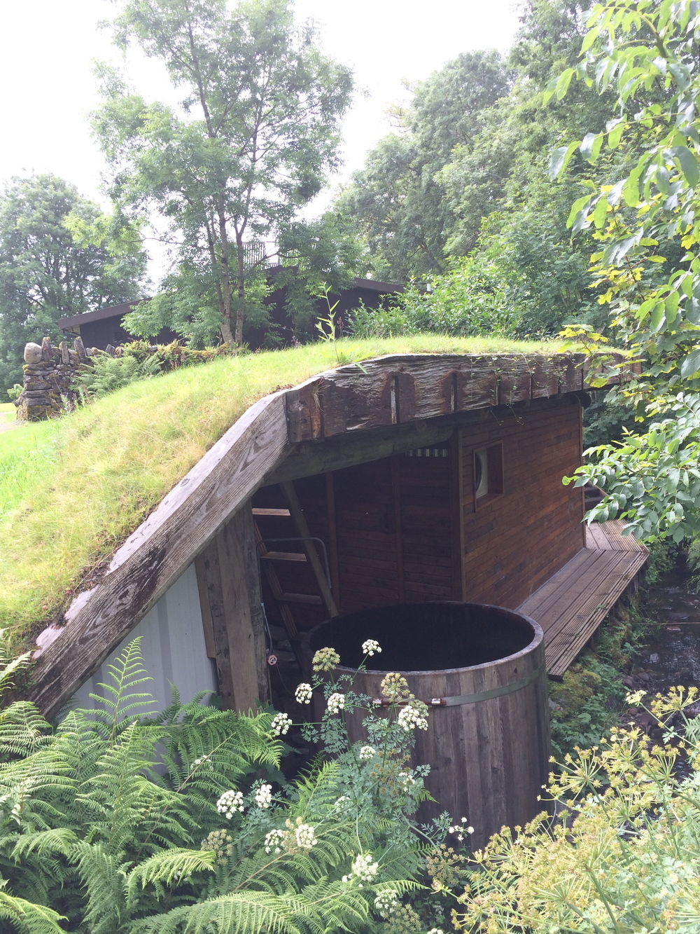 The underground sauna at the retreat center I stayed at in EcoYoga in Kilmartin, my own personal ritual pleasure space.
