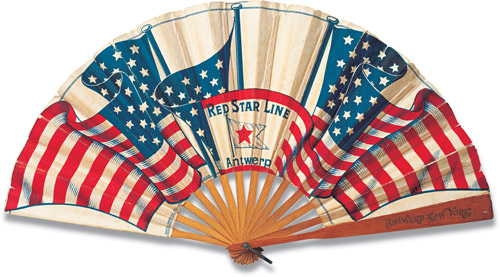 Before air-conditioning, paper fans were a welcome promotional giveaway, especially at sweltering Independence Day celebratins.