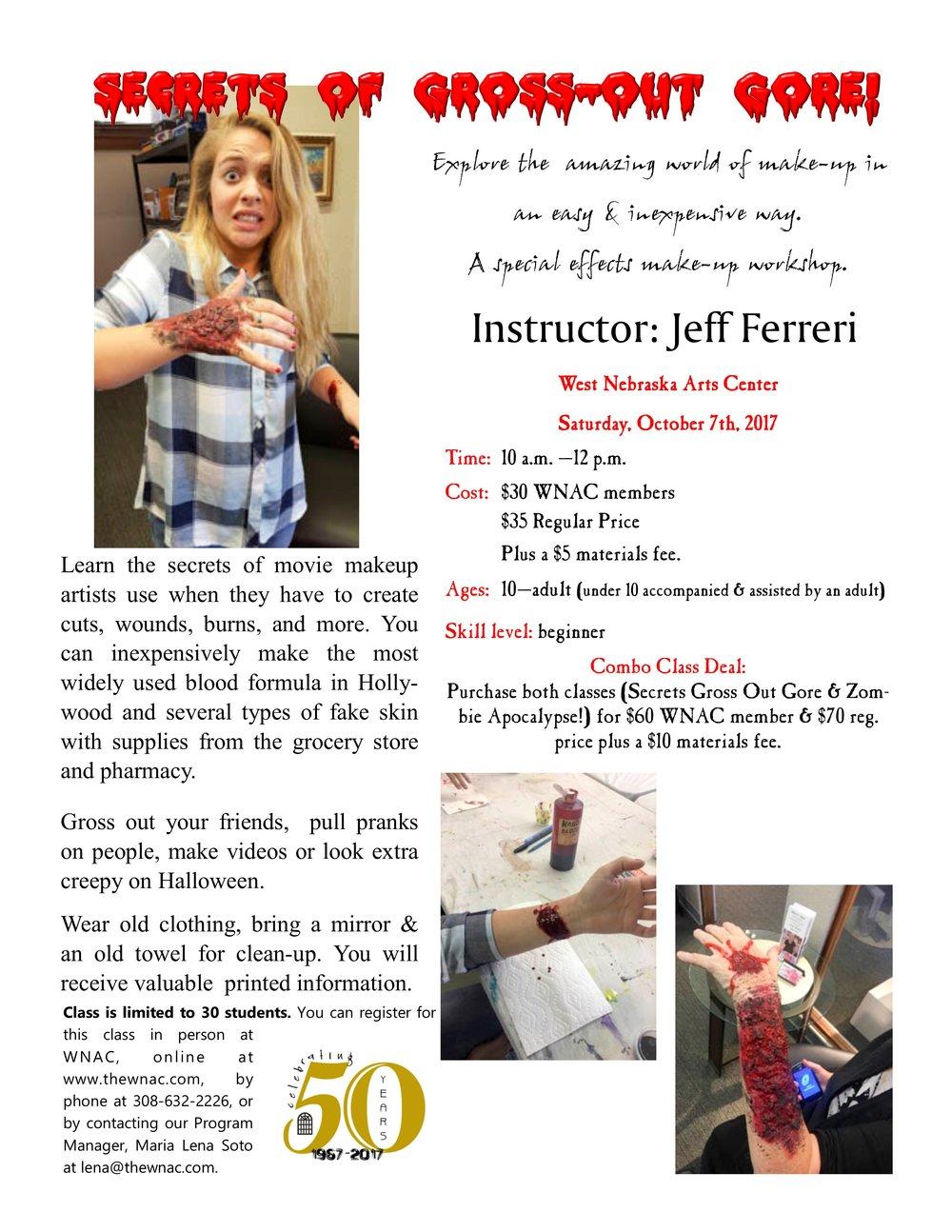 2017 Ferreri- Secrets of Gross-Out Gore flyer.jpg