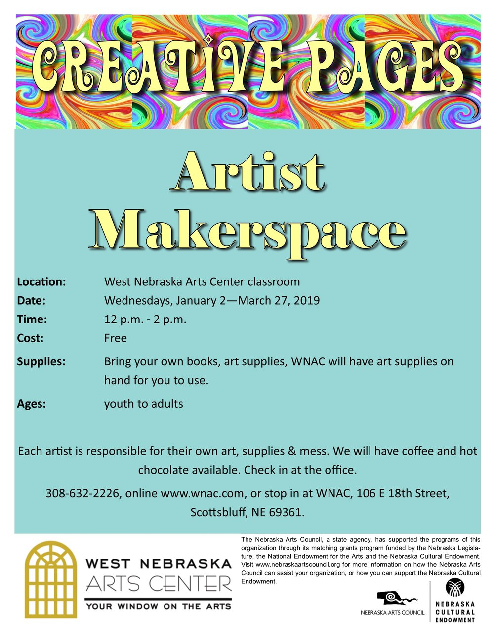 2019 - Creative Pages Artist Makerspace - flyer.jpg