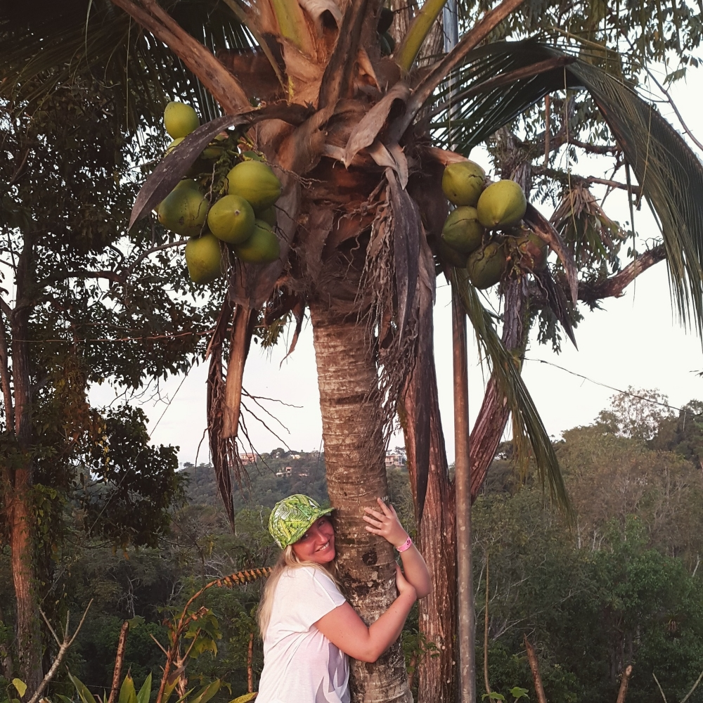 Doing some tree hugging :)