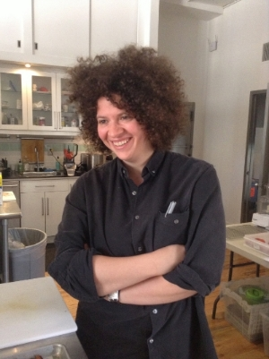 Julia Turshen on set for my cookbook, Mastering My Mistakes In the Kitchen.