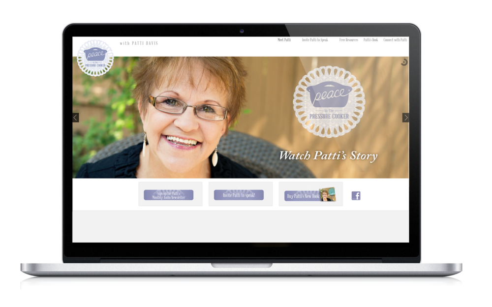 Patti Davis Ministries Web Design | Finicky Designs